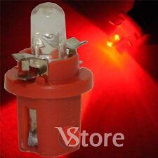 2 LED T5 B8.5D ROSSO Lampade Luci Lampadine Per Cruscotto e Quadro Strumenti
