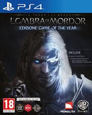 Terra Di Mezzo L'Ombra Di Mordor GOTY Edition PS4 Playstation 4 IT IMPORT