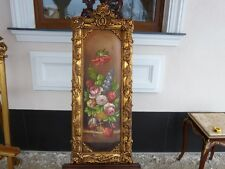 OIL PAINTING ON PLAYWOOD IN BEAUTIFUL FRAME - FLOWERS 1