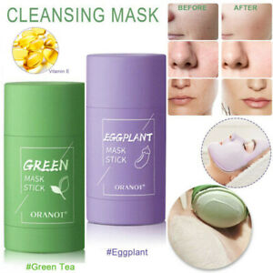 2PCS Cleansing Facial Mask Stick Clay Purifying Blackhead Acne Remover Green Tea