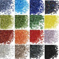 """1200PCS 3"""" Glass Bugle Beads Mix - Colorful Silver Lined/AB Color Multi-Style"""
