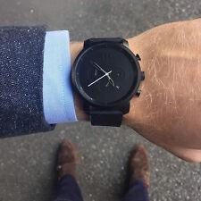 MVMT Watches Chrono Black Leather Herren Luxusuhr Hergestellt In Den USA*