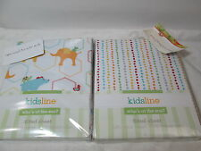 New  2 Kids Line WHO'S AT THE ZOO Crib Fitted Sheet 200TC NIP