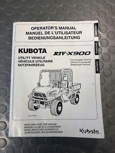 KUBOTA RTV X900 OPERATORS MANUAL UTILITY VEHICLE