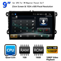 9''Android 9.1 Car DVD Navigation Player Radio For VW Magotan Passat Golf B7 CC