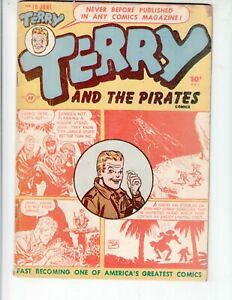Terry and the Pirates 10 VG (4.0) 6/48 Harvey Publications!