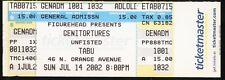 Genitorturers + Unfisted UNUSED VINTAGE 2002 CONCERT TICKET Gen/stub/no-cd MINT!