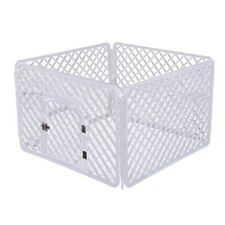 Dog Playpen Pet Fence Indoor Exercise Door Puppy 4-Panel Rabbit Kitten Cats Pp