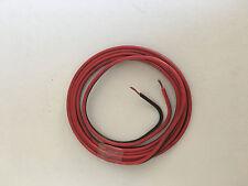 fil double 2X1mm² rouge/noir câble souple haut-parleur lampes coupe de 1a5M