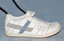 "Women's Diesel ""Clarita"" White and Gray Leather Fashion Walking Shoes -Size 6 M"