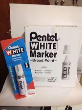 New listing Pentel White Marker Perm Ink Broad Point (Pentel 100W) - 6/pk