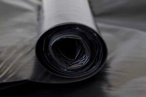 Builders Film Black Polythene Concrete Underlay Plastic 6 x 200um x 33M