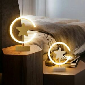 LED Gold White Star Wall Lamp Table Bedroom Bedside Living Dining Room Corridor