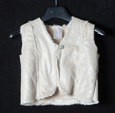 George winter fake fur jacket with sparkle brooch age 7 - 8
