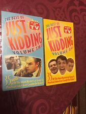 VHS Tapes: The Best Of Just Kidding Volume One (used) And Volume Two (sealed)