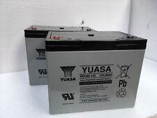 2 x YUASA 12V 75AH MOBILITY SCOOTER GOLF BUGGY BATTERIES (80AH, 85AH) PAIR