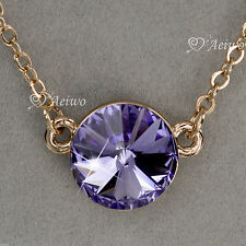 Rose Gold Plated Amethyst Fashion Necklaces & Pendants