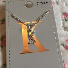 Letter 'K' Necklace, Alphabet, Name, Initial