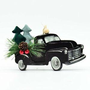 "Holiday Time Black Truck Retro Themed Decorative Unlit Ornament H-3.5""-New item!"