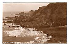 Warren Cliffs Hartland Real Photo Postcard 1915 Headon