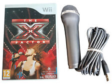 The X Factor - Game + Microphone - Nintendo Wii / Wii U - Free, Fast P&P! - Sing