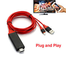 iOS10 11 to HDMI TV Projector AV Video Cable Adapter for iPhone 6 7 Plus 8 iPad
