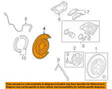 GM OEM Rear Brake-Backing Plate Splash Dust Shield 25911891