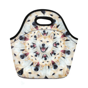 Funny dog Print Lunch Totes Food Storage Bag Women Kids Portable  Picnic Bags