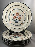 "Set of 6 Hearthside Brambleberry Cumberland Stoneware 10 5/8"" Dinner Plates"
