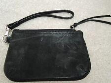 Ladies Wrist Purse LATICO Black Leather Wristlet Hand Bag Clutch $65 Value NWOT