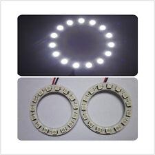 2x 60MM 15leds Bright 1210/3528 Car Angel Eyes Halo Ring Light Headlight White
