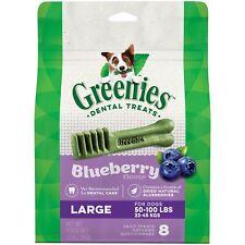 4  X  12 oz.bags GREENIES Dog Treats BLUEBERRY Flavor LARGE 32 TREATS!