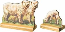 Stand-up Wooden Sheep, Vintage Style, Primitives by Kathy, Set of 2