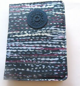 Kipling Textured Waves Passport Case- blue gray purple- 4 compartments