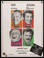 Le CERVEAU The BRAIN French Moyenne movie poster JEAN PAUL BELMONDO BOURVIL