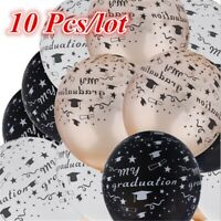 10pcs 12inch Graduation Balloons Party Decoration Black White Gold Mixed Color