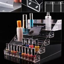 6-Tier Acrylic Nail Polish Rack Organizer Holder Lipstick Clear Display Shelf Us