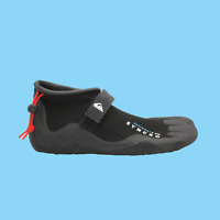 QUICKSILVER Syncro Reef Round Toe 2MM Mens Wetsuit Black Surf Booties Size 12