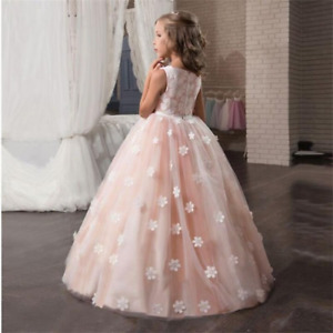Girls Dress for Wedding   Children Princess Party Pageant Long Gown Kids Dresses