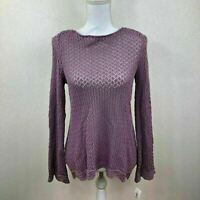 Style & Co Womens Sweater Crochet Knitted Mauve Purple Variety Sizes