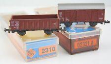 Roco N Offener Güterwagen Ommp 50  + Gedeckter GW Gklm DB OVP unbespielt *4605