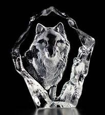 Mats Jonasson Crystal Wolf Sculpture/Statue/Figurine 88128- Brand New!