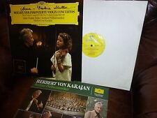 Mère Autograph, Mozart violin concertos 3 & 5 de Berlin phil. Karajan DG