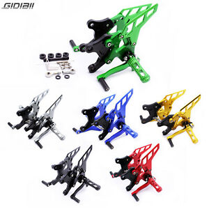 Adjustable CNC Rearsets For Kawasaki Z900 2017 2018 Aluminum Footrests Footpegs