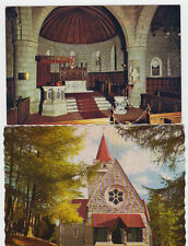 2 VINTAGE POSTCARDS OF CRATHIE CHURCH ABERDEENSHIRE UNPOSTED.