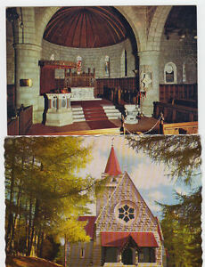 2 POSTCARDS OF CRATHIE CHURCH ABERDEENSHIRE UNPOSTED.