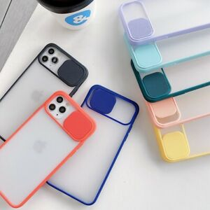 Slide Window Bumper Camera Protector Phone Case For Apple iphone ALL Model