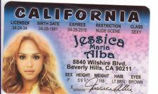 Jessica Alba of Fantastic Four marvel comics The Invisible Girl Drivers License