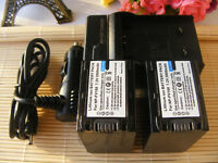 2 Battery + Charger FOR SONY NP-FV100 2800 mAh NEX-VG10 HDR-XR550V