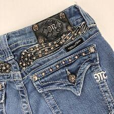 Miss Me Jeans Leather Wings Gems Rhinestones Bling • JP5011BT • 29